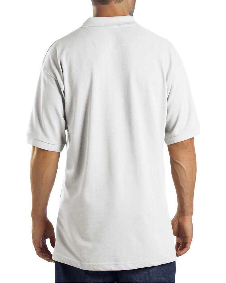 Dickies Pique Polo Work Shirt, White, hi-res