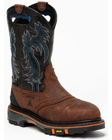 Cody James Men's Decimator Western Work Boots - Nano Composite Toe, Brown, hi-res