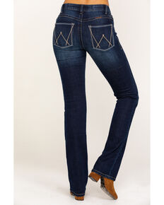 As Real As Wrangler Women's Buchanan Relaxed Bootcut Jeans, Blue, hi-res
