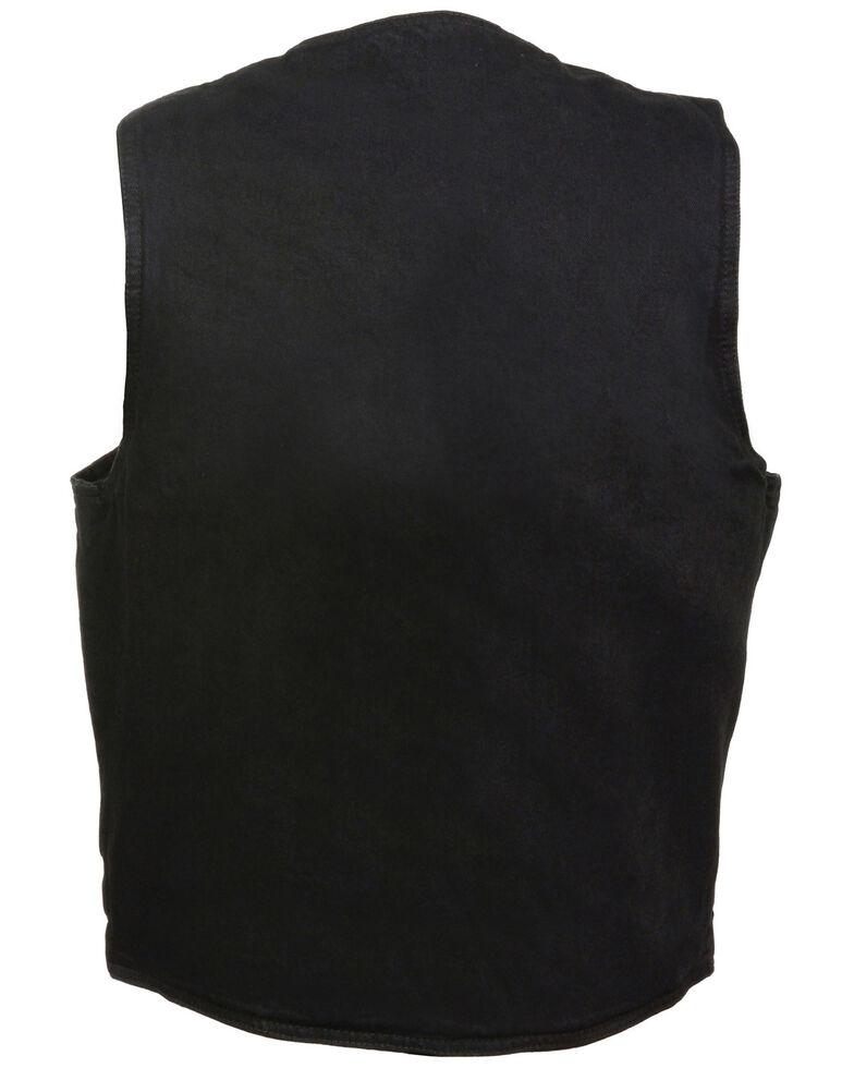 Milwaukee Leather Men's 3X Classic Snap Front Denim Biker Vest, , hi-res