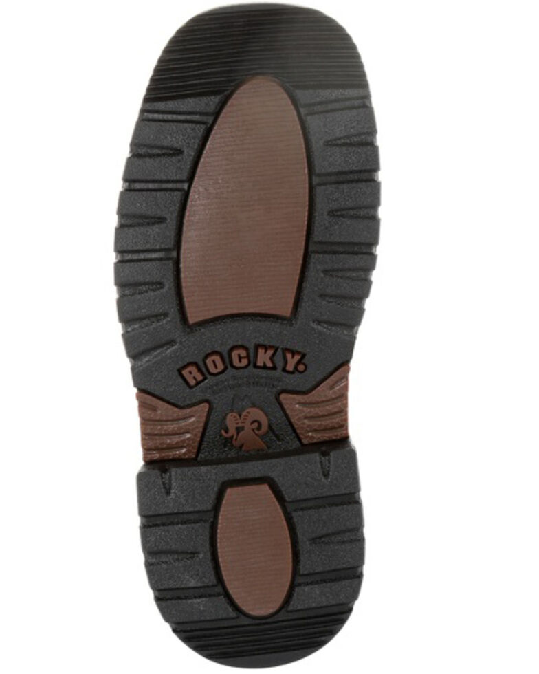 Rocky Boys' Ride FLX Western Boots - Square Toe, Chocolate, hi-res