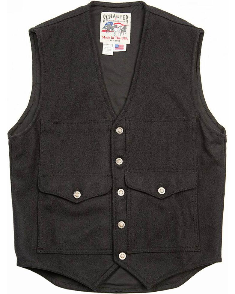 Schaefer Outfitter Men's Black Scout Melton Wool Vest , Black, hi-res