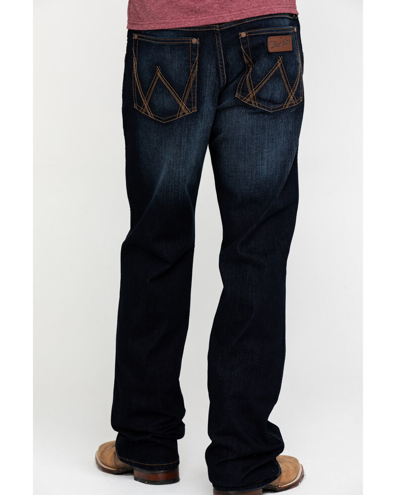 Wrangler Retro Men's Lavon Dark Stretch Relaxed Bootcut  Jeans , Indigo, hi-res