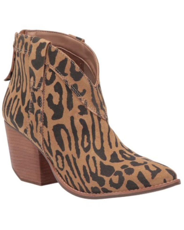 Matisse Women's Arrow Leopard Fashion Booties - Pointed Toe , Leopard, hi-res