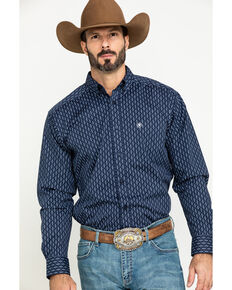 Ariat Men's Loveland Stretch Small Geo Print Long Sleeve Western Shirt - Big , Multi, hi-res