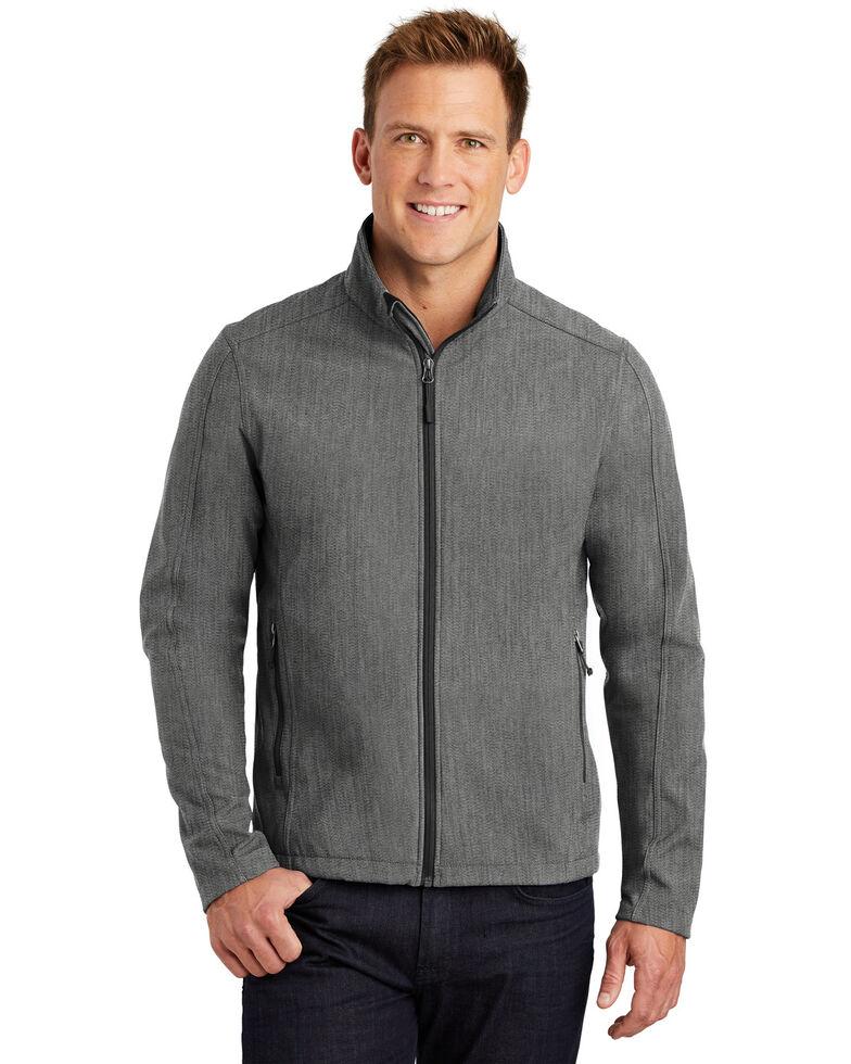 Port Authority Men's Heather Grey Core Soft Shell Work Jacket - Big , Grey, hi-res