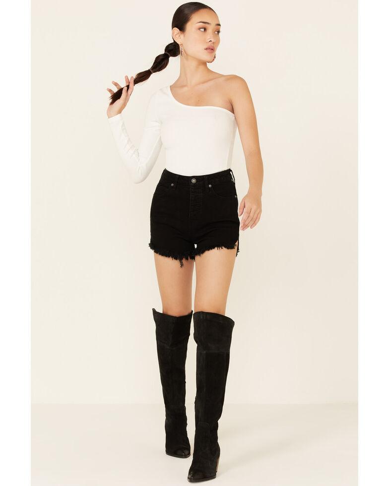 Free People Women's Curvy Vintage Shorts, Black, hi-res