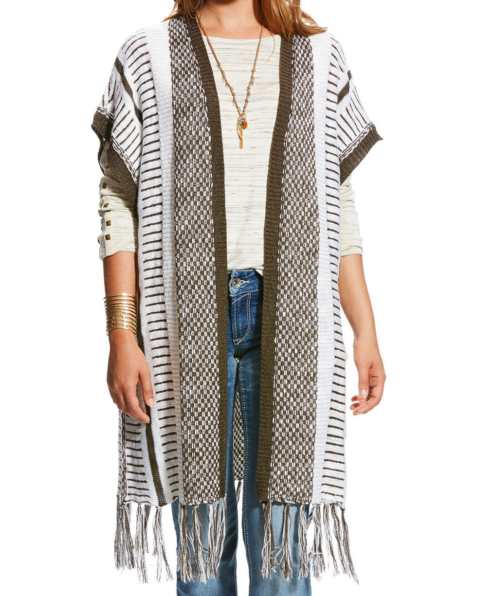 Ariat Women's Tabi Fringe Vest, Multi, hi-res