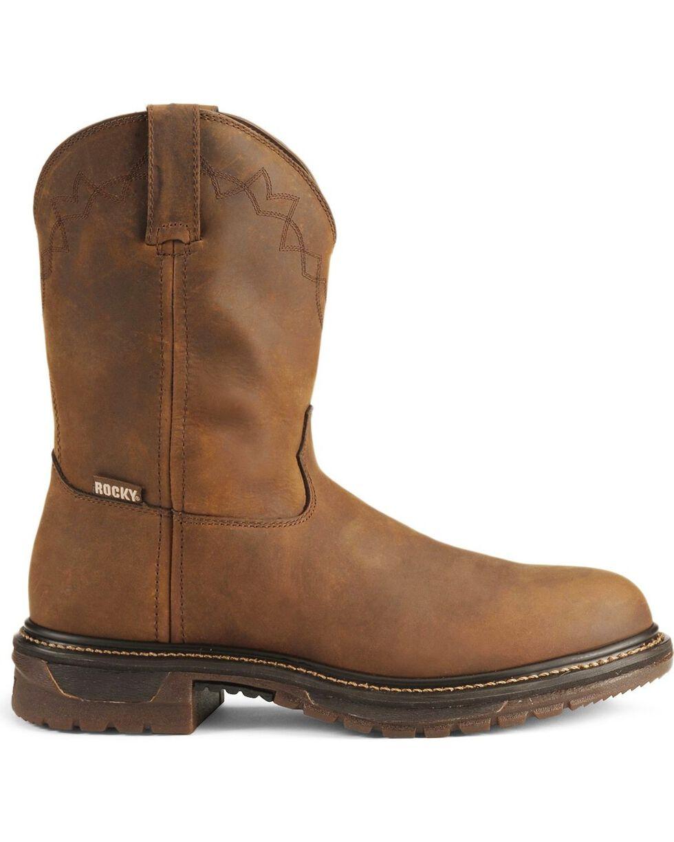 Rocky Men's Roper Original Ride Western Boots, Tan, hi-res