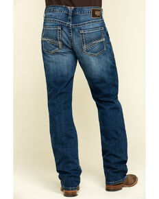 Ariat Men's M4 Low Stretch Stackable Relaxed Straight Jeans , Blue, hi-res