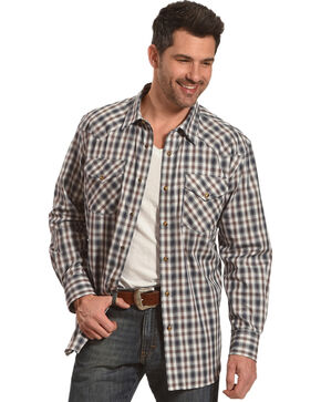 Pendleton Men's Brown Herringbone Plaid Long Sleeve Shirt, Brown, hi-res