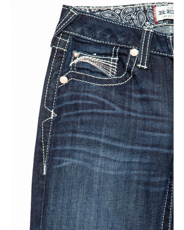 Ariat Girls' R.E.A.L. Franky Bootcut Jeans, Blue, hi-res
