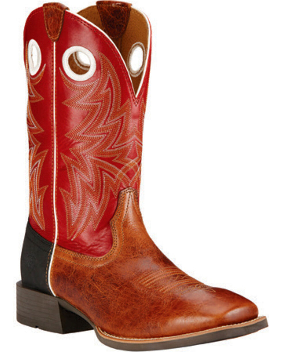 Ariat Men's Heritage Cowhorse Performance Boots, Tan, hi-res