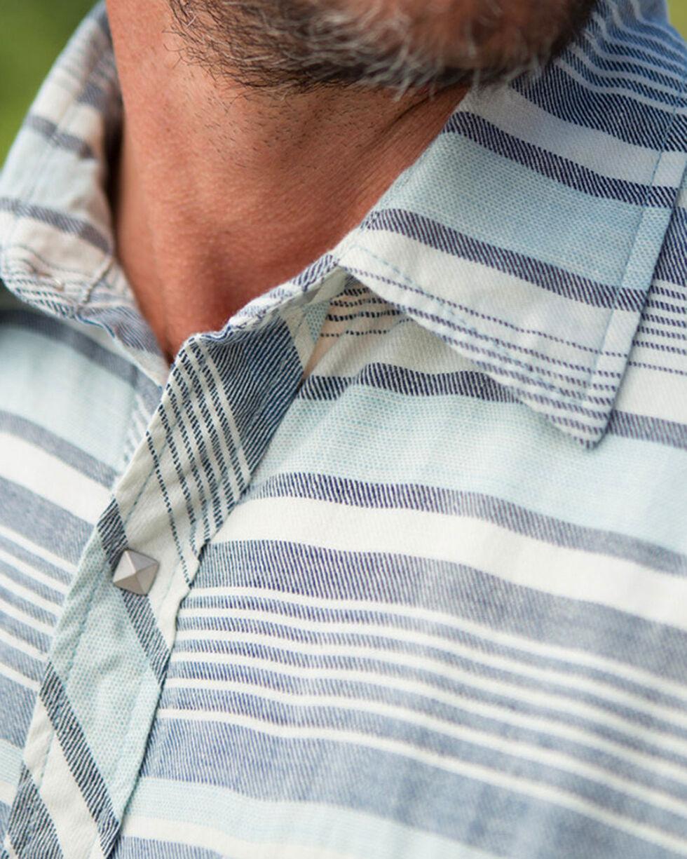 Ryan Michael Men's Indigo Horizon Stripe Shirt, Indigo, hi-res