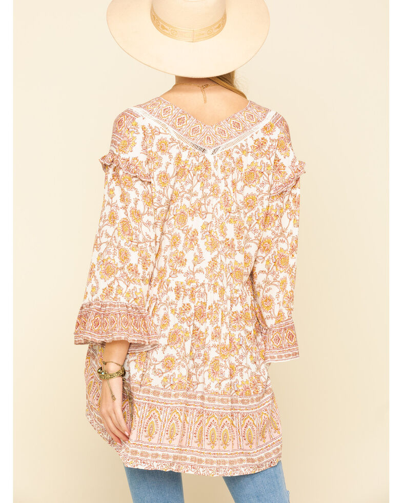 Free People Women's Moonlight Dance Tunic, Ivory, hi-res