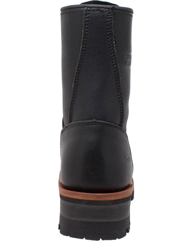 "Ad Tec Women's 9"" Black Leather Logger Boots - Soft Toe, Black, hi-res"