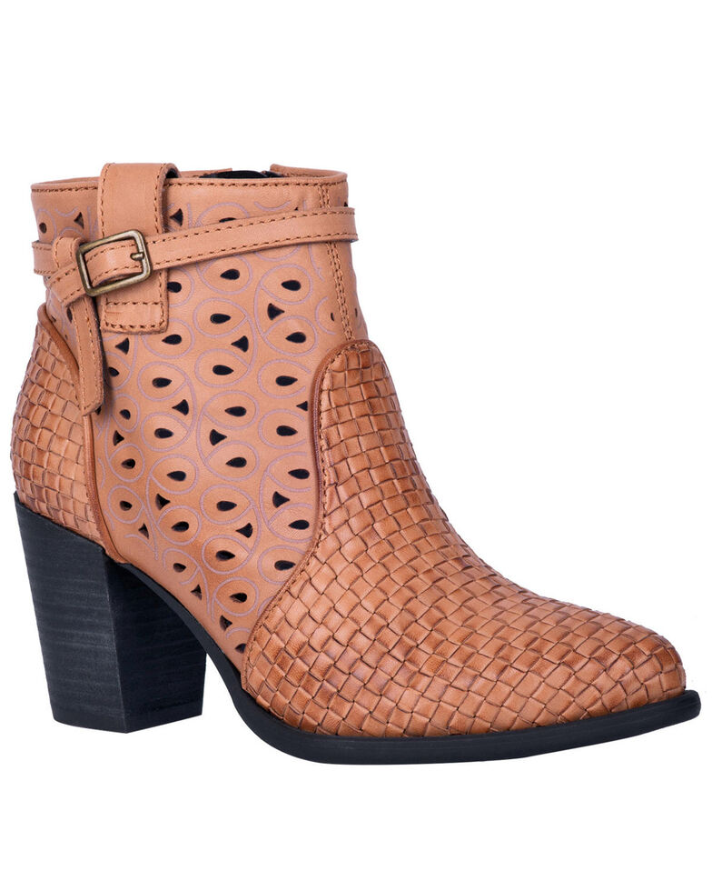 Dingo Women's Tan Be Famous Fashion Booties - Round Toe, Tan, hi-res
