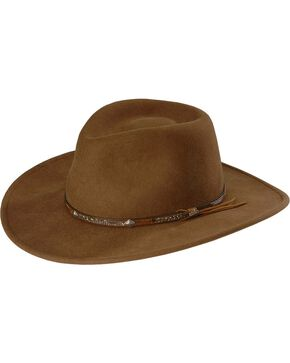 Stetson Mountain Sky Crushable Wool Felt Hat, Acorn, hi-res