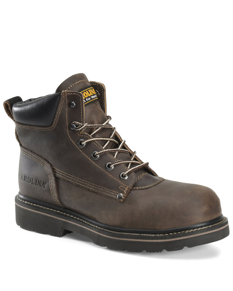Carolina Men's Shotcrete Work Boots - Soft Toe, Brown, hi-res