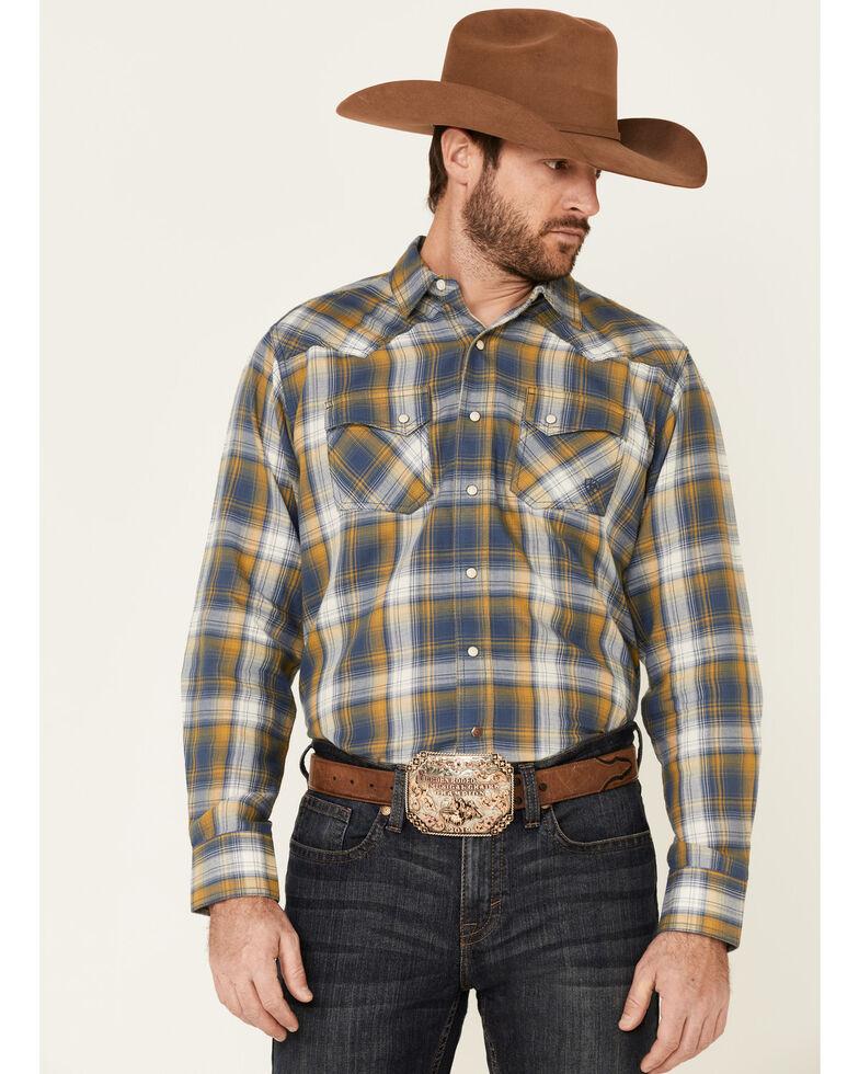 Ariat Men's Moss Alhambra Retro Plaid Long Sleeve Snap Western Shirt , Green, hi-res