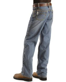 Cinch Boy's White Label Relaxed Fit Jeans, Denim, hi-res