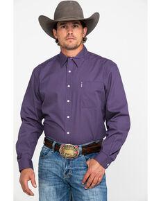 Cinch Men's Purple Modern Dot Geo Print Long Sleeve Western Shirt , Purple, hi-res