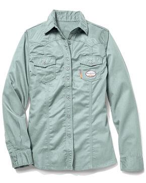 Rasco Women's FR Sage Work Shirt , Sage, hi-res