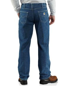 Carhartt Men's Flame Resistant Lined Utility Jeans, Midstone, hi-res