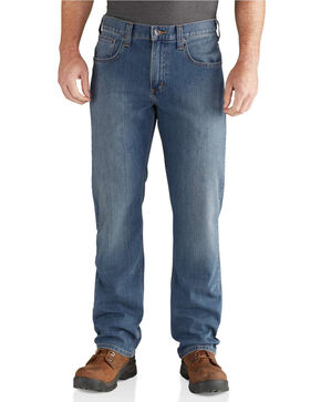 Carhartt Men's Blue Rugged Flex Relaxed Jeans - Straight Leg , Blue, hi-res