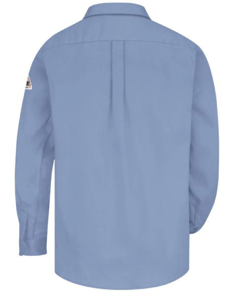 Red Cap Men's Light Blue FR Uniform Long Sleeve Work Shirt , , hi-res