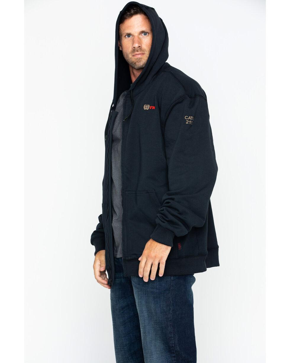 Cinch WRX Men's FR Black Full Zip Work Hoodie, Black, hi-res