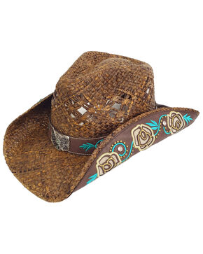 Peter Grimm Women's Ximena Cowgirl Hat, Brown, hi-res