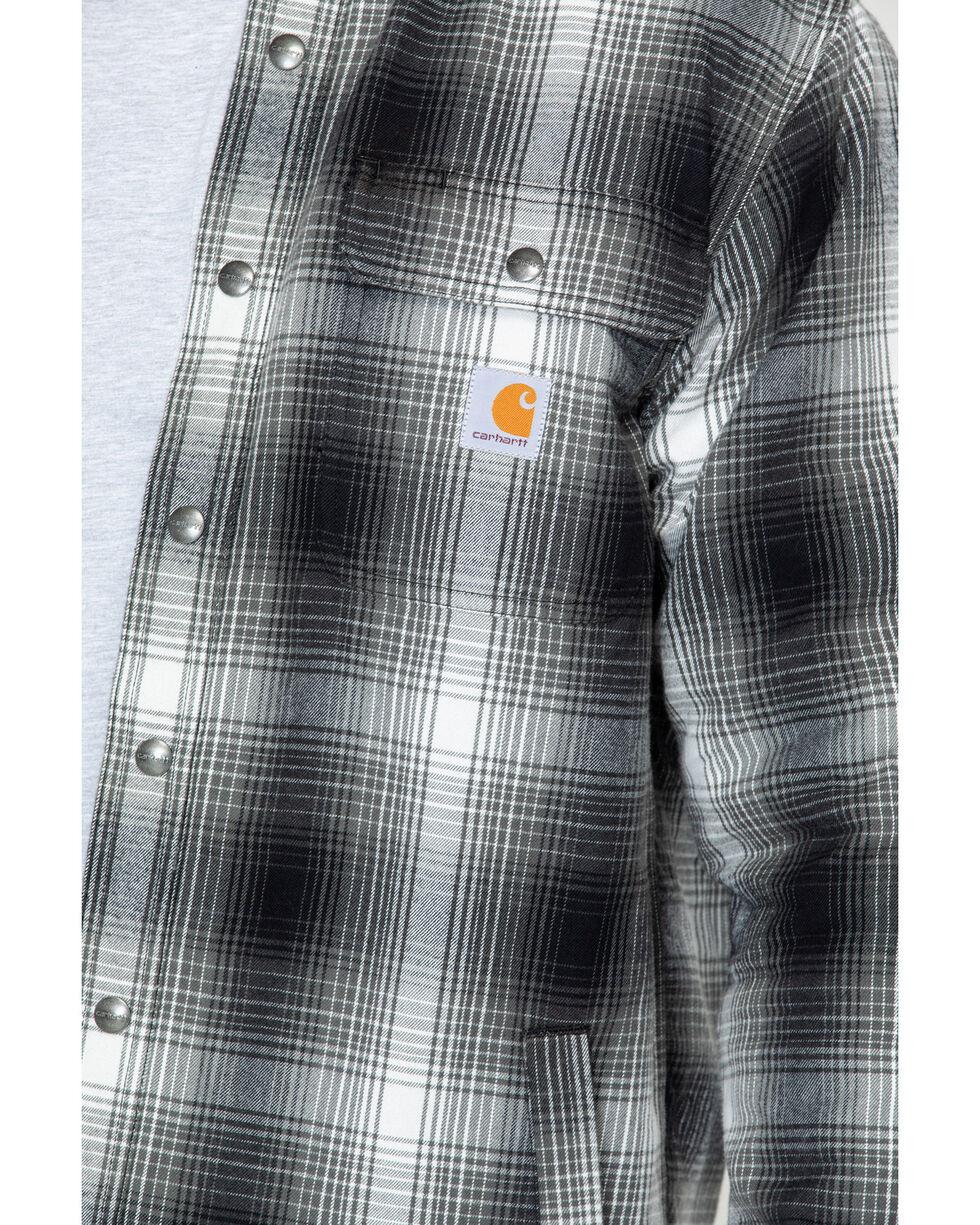Carhartt Men's Hubbard Sherpa-Lined Shirt Jac , Charcoal, hi-res