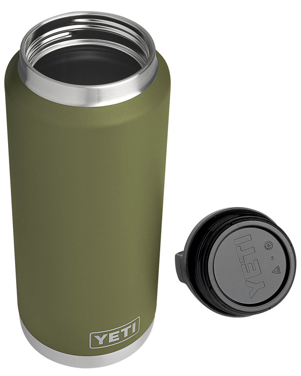 Yeti Olive Green 36 oz. Bottle Rambler , , hi-res