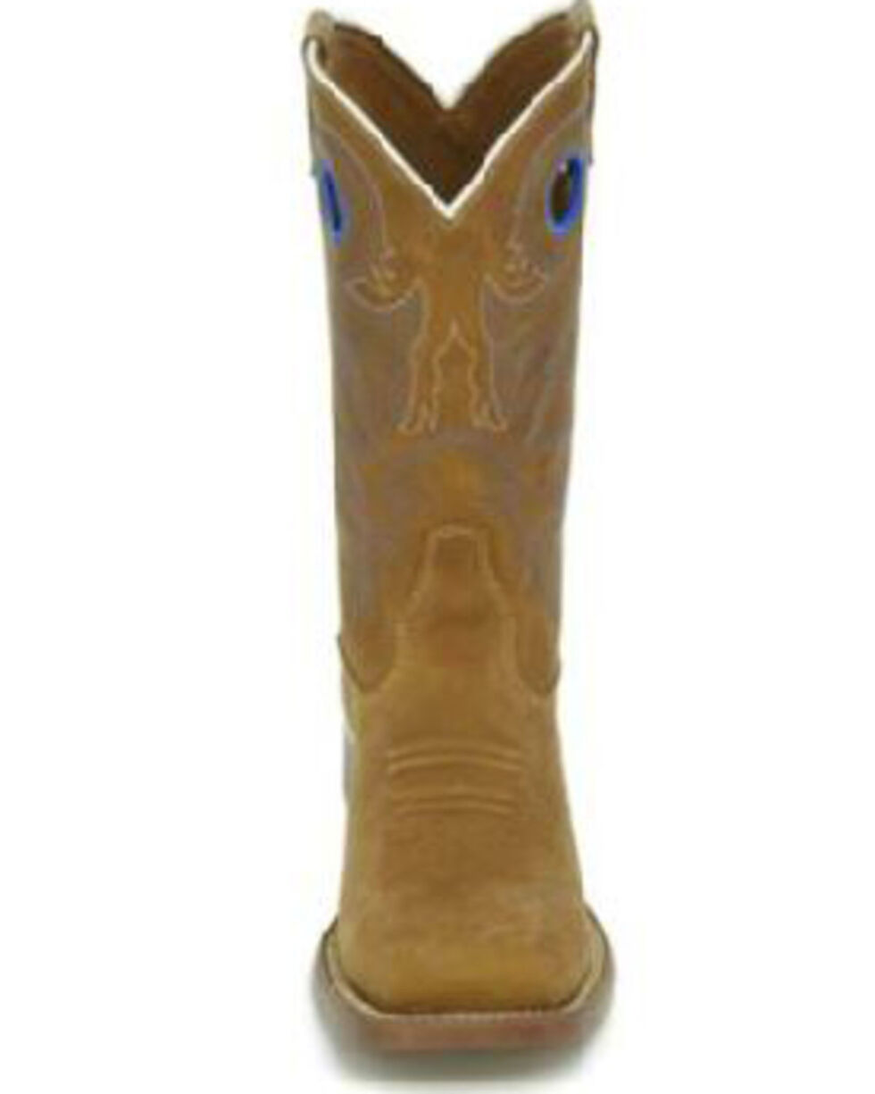 Justin Kids' Norman Western Boots - Square Toe, Brown, hi-res