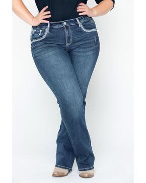 Grace In LA Women's Chandler Bling Boot Jean: Plus Size , Blue, hi-res