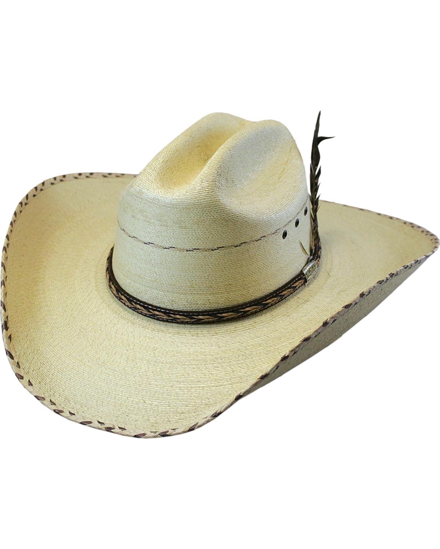 9f93a1b4fae71 Larry Mahan Men s 30X Logan Palm Leaf Cowboy Hat