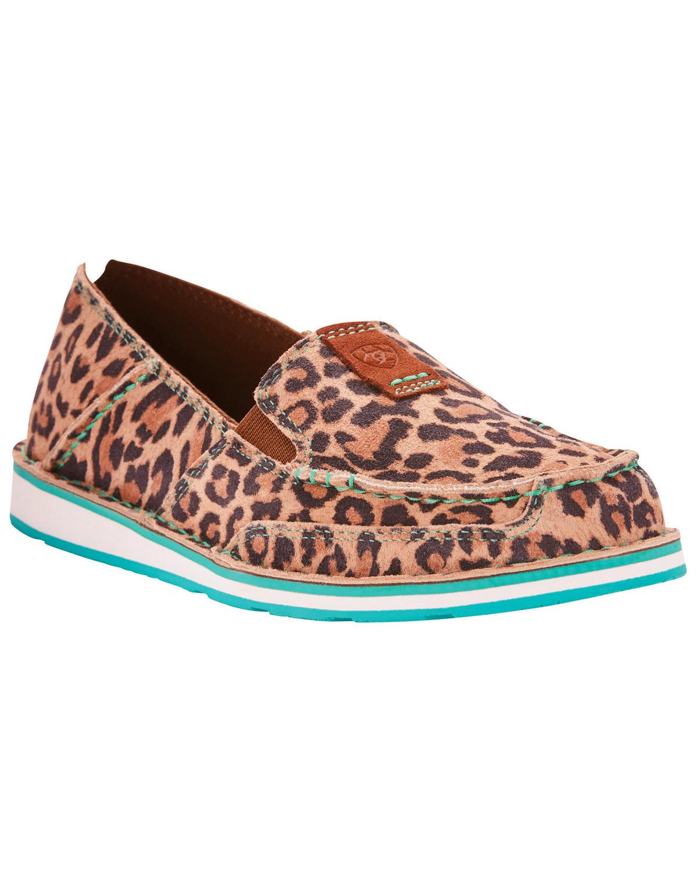 b7da2b48a07 Ariat Women s Cheetah Print Cruiser Slip On Shoes - Moc Toe