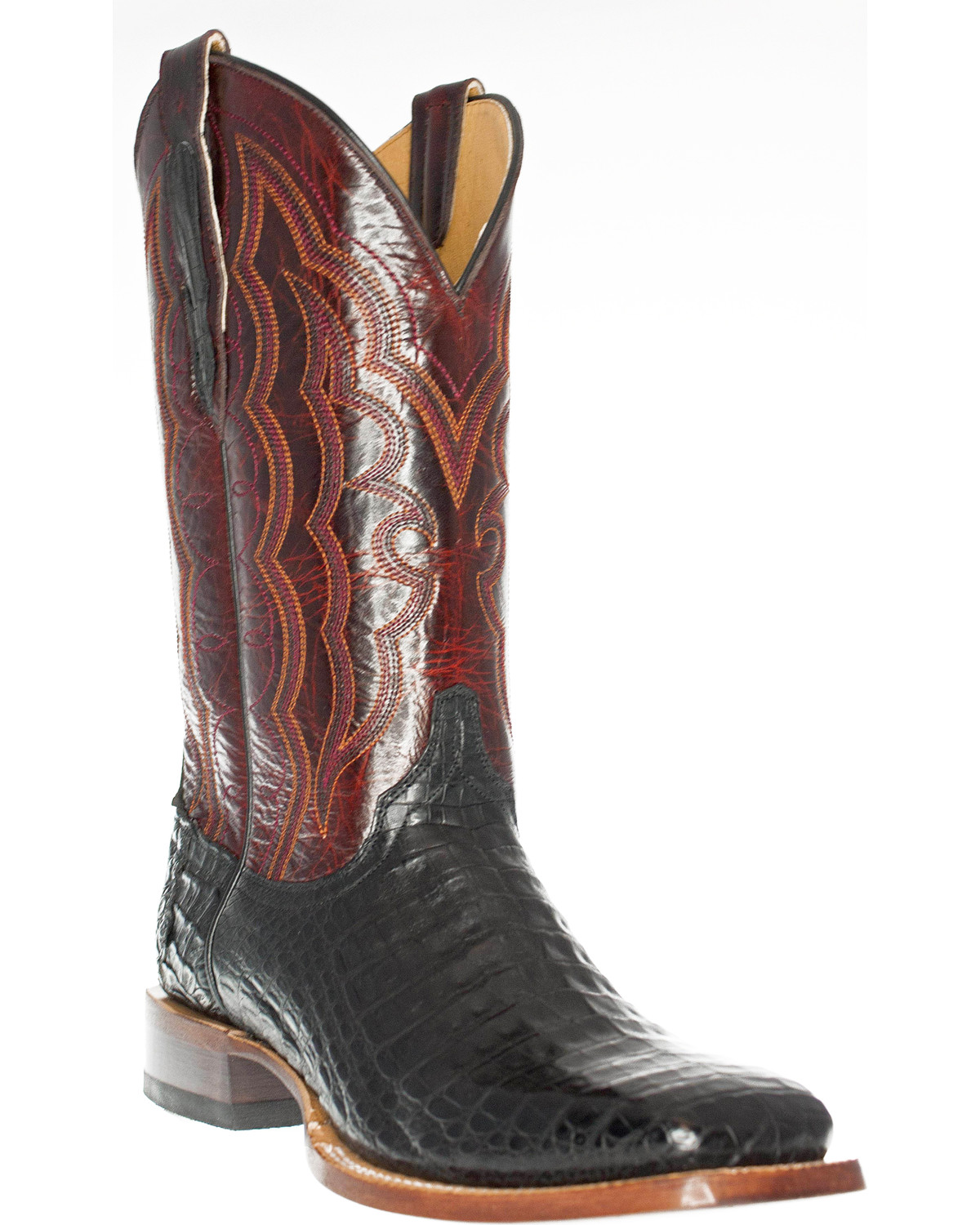 Cinch Men S Caiman Belly Square Toe Exotic Boots Boot Barn