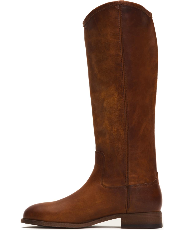 44252d11b1f Frye Women s Cognac Melissa Button 2 Tall Boots - Round Toe