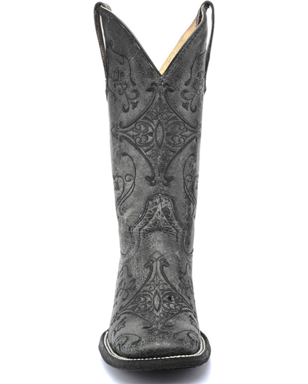 Cowboy womens boots black