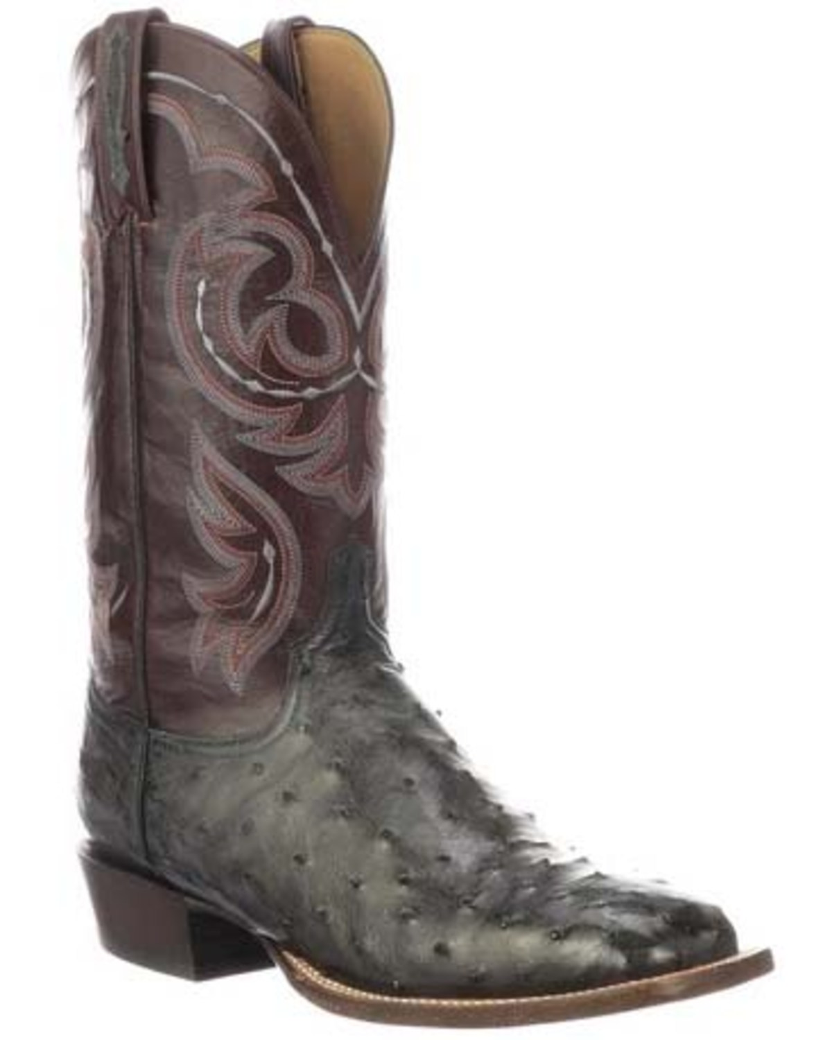 990c3ce8070 Lucchese Men's Harris Full Quill Ostrich Western Boots - Wide Square Toe