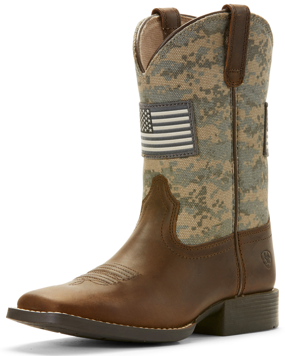 4022e69ecae Ariat Kid's Youth Patriot American Flag Western Boots - Wide Square Toe