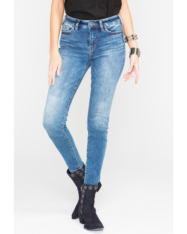 6b21a836de0c Silver Women s Mazy Dark Wash Super Skinny Jeans