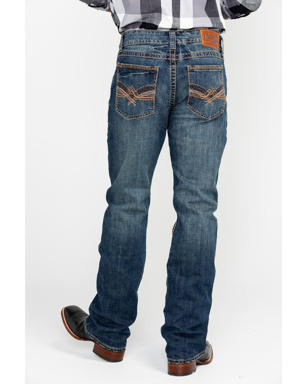 4152f313e Wrangler Rock 47 Men S Slim Fit Bootcut Jeans - The Best Style Jeans