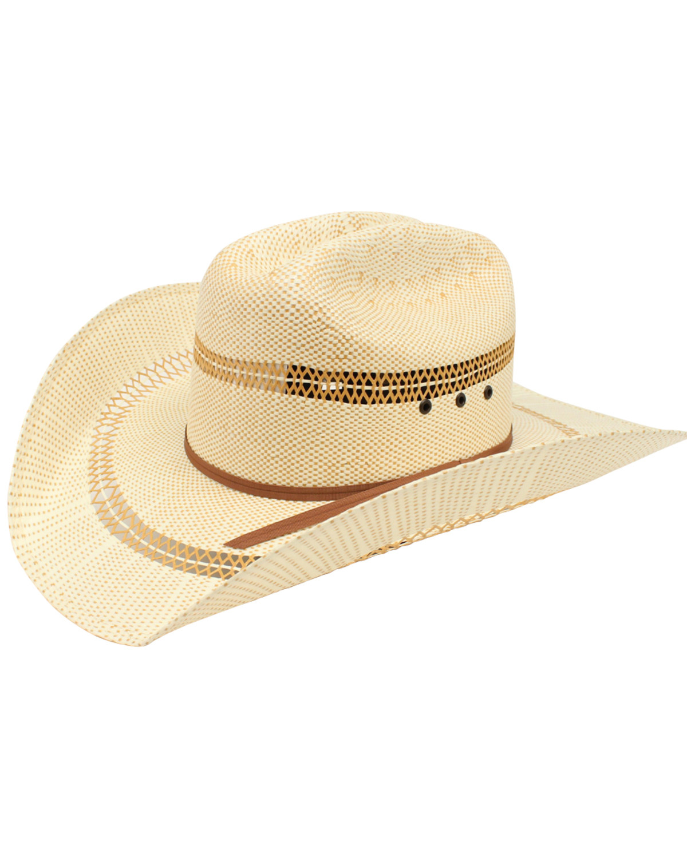 Bangora Straw Hat: Ariat Men's Bangora Straw Cowboy Hat