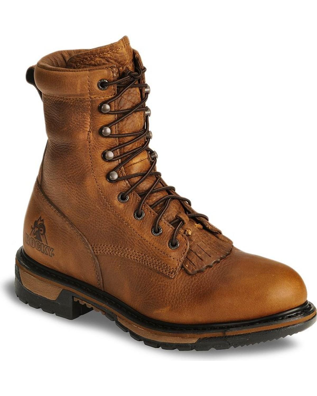 Rocky Men s Ride Waterproof Western Boots  a9a7678c81b8