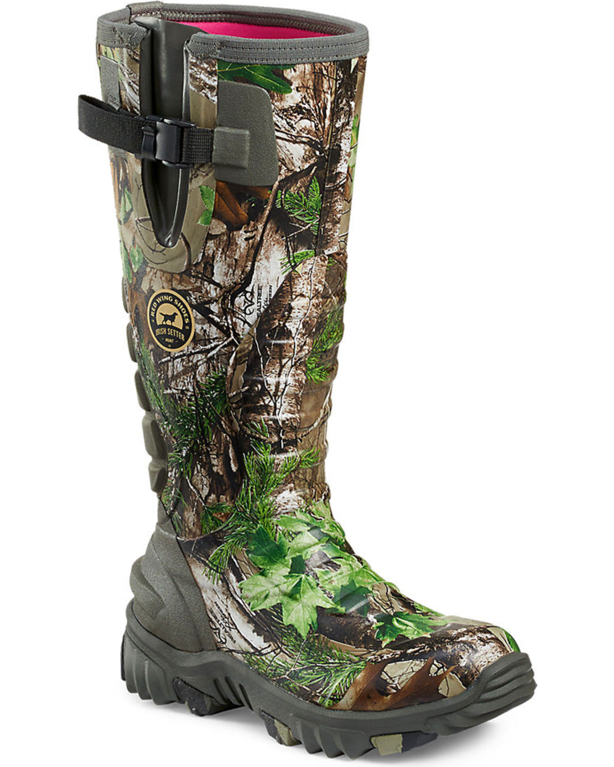 68cee4d0b0484 Irish Setter by Red Wing Shoes Women s Rutmaster Realtree Xtra Green Camo  Rubber Boots - Round