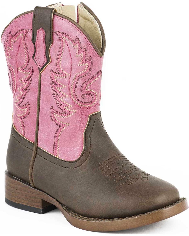 4586722cf0d Roper Toddler Girls' Ostrich Print Boots - Square Toe