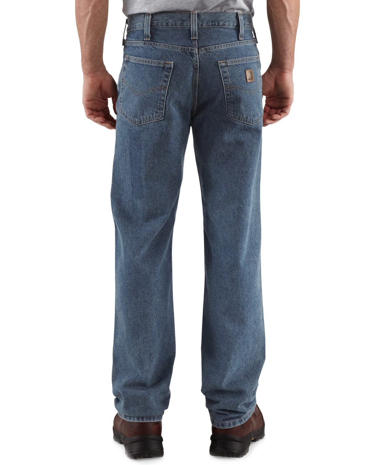 2cf5d01def4 Zoomed Image Carhartt Relaxed Fit Straight Leg Five Pocket Work Jeans, Dark  Denim, hi-res